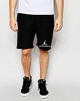 Шорты Jordan чёрные лого+значёк белый