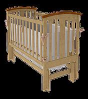 Деревянная кроватка Mia УМК для младенцев с ММК (продольное и поперечное) ТМ WoodMan Натуральный