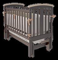 Деревянная кровать Mia УМК для младенца с поперечным/продольным качанием (с ящиком и без) ТМ WoodMan Шоколадный