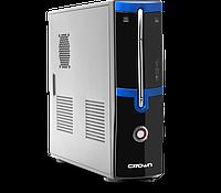 Компьютерный корпус Crown CM-MC-02  Slim black/blue ATX  без БП