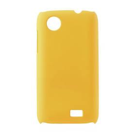 Чехол на Lenovo A369 пластиковый матовый Желтый