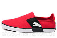 Летние кроссовки Puma Lasy Slip On red, фото 1