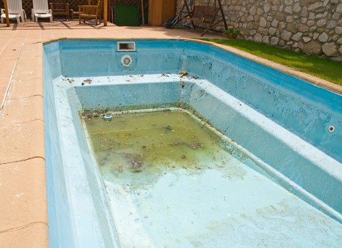 бассейн после зимы