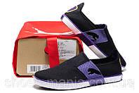 Летние кроссовки Puma Lasy Slip On violet-black, фото 1