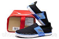 Летние кроссовки Puma Lasy Slip On black-blue, фото 1