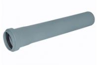 Труба раструбная ПВХ Wavin с уплотнительным кольцом для внутренней канализации серая 50х2,5х500