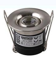 Светильник встроенный LED Horoz 016 039 0001 Silvia 1W 4200k матовый хром