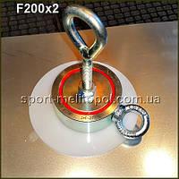 Поисковый магнит F200x2 (Редмаг) сила 200 кг