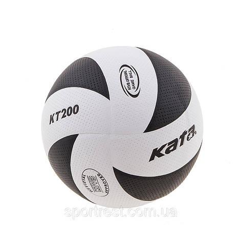 Мяч волейбольный Kata 200 PU белый-черный, фото 2