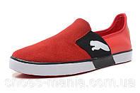 Летние кроссовки Puma Lasy Slip On красные, фото 1