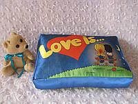Подушка с фотопечатью Love is...
