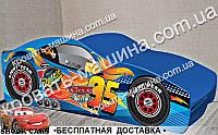 Кровать машина Тачки Синяя 1700х800