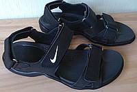 Найк кожаные новые мужские сандалии босоножки NIKE лето обувь реплика качественные легкие комфортные