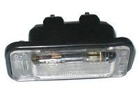 Фонарь освещения номера ВАЗ 2108, ВАЗ 2109, ВАЗ 21099, ВАЗ 2110 н/о с резиновым  уплотнителем