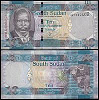 Судан Южный / South Sudan 10 pounds (2011) UNC