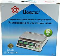 Торговые весы Domotec на 50 кг DM-208 ACS