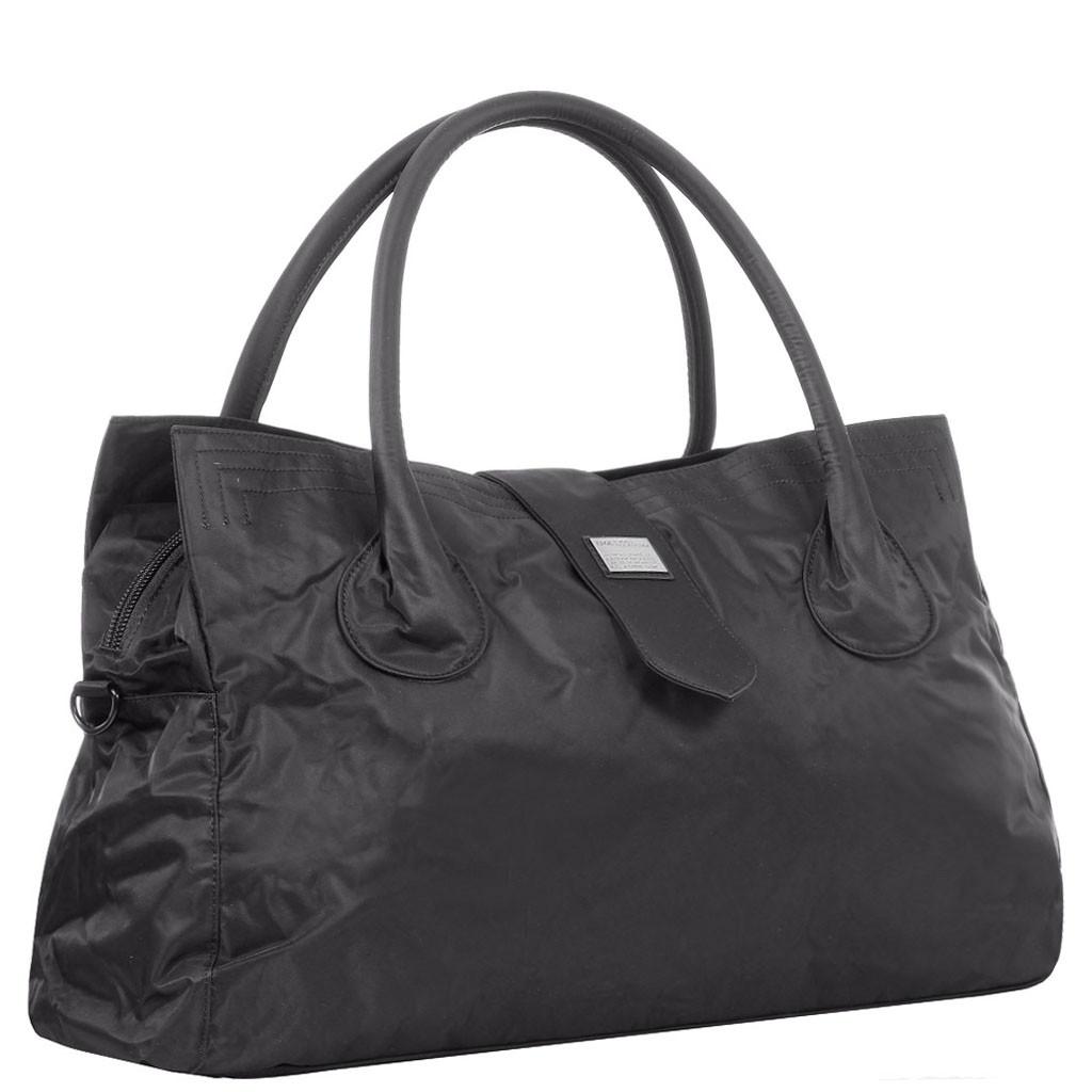 Дорожная средняя спортивная сумка текстильная черная Эпол 2360 (Epol) , 51*27*20 см