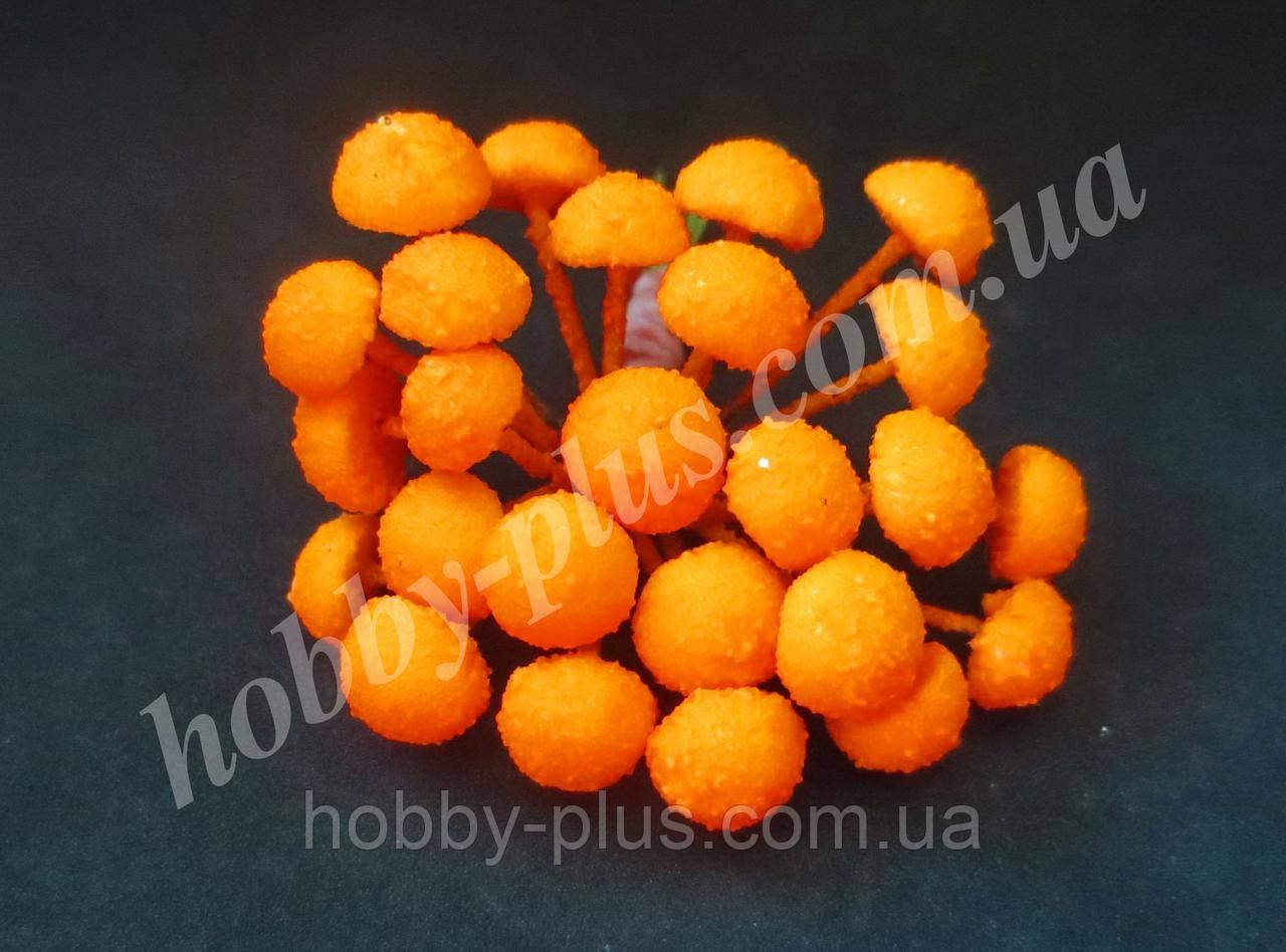 Серединки (маленькие) для ромашек, насыщенно-желтые (КУКУРУЗА), 1 шт