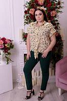 Брюки женские на резинке для пышных женщин, 48-74 размер, фото 1