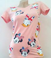 Модная женская футболка Микки-Маус