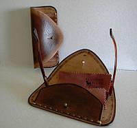 Чехол кожаный для очков, фото 1