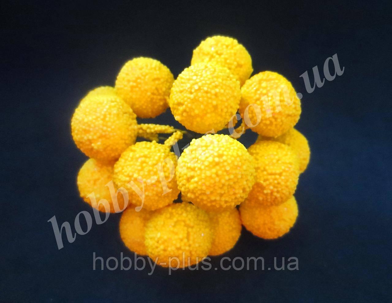 Серединки (большие) для ромашек, подсолнуха, хризантемы, космеи, ЖЕЛТЫЕ, 1 шт