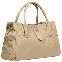Дорожная большая спортивная сумка текстильная бежевая Эпол 23601 (Epol) , 57*30*24 см