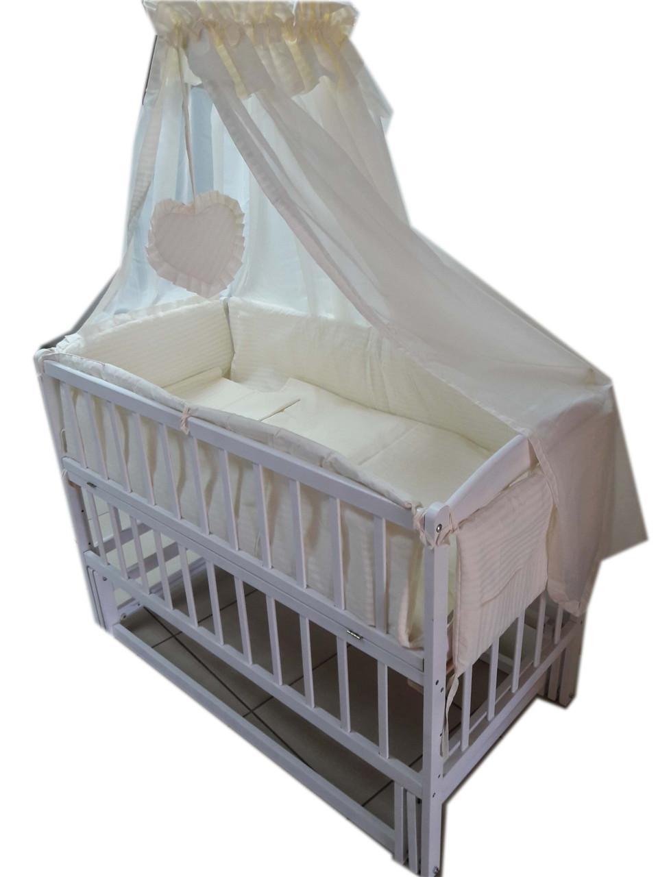 Кроватка маятник Малыш (белая)