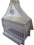 Кроватка маятник Малыш (белая), фото 4