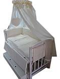 Кроватка маятник Малыш (белая), фото 5