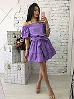 Женское модное хлопковое платье (7 цветов), фото 1
