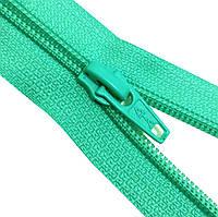 Застежки-Молнии  65см (СПИРАЛЬ Тип-5) разъемные, цвет № 018 светлая-мята