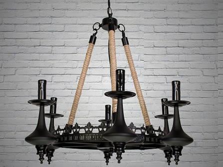 Люстра современная,DS, готика, лофт, металл, подвесная, 5 ламп, фото 2