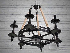 Люстра современная,DS, готика, лофт, металл, подвесная, 5 ламп, фото 3