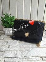 Сумка в стиле Christian Dior Diorama Диорама черного цвета