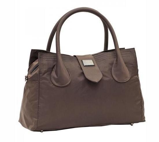 Дорожная малая спортивная сумка текстильная коричневая Эпол 23602 (Epol) , 39*20*14 см