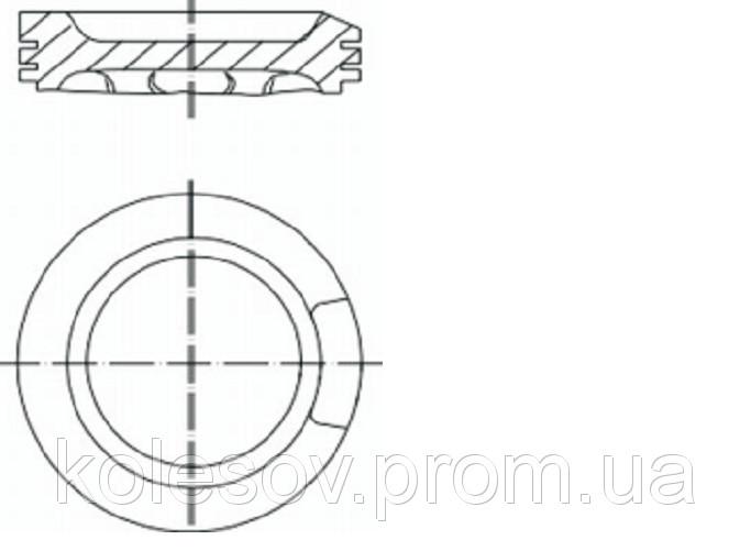 Поршни AUDI A3 (TT) 1,8б. д.81мм.