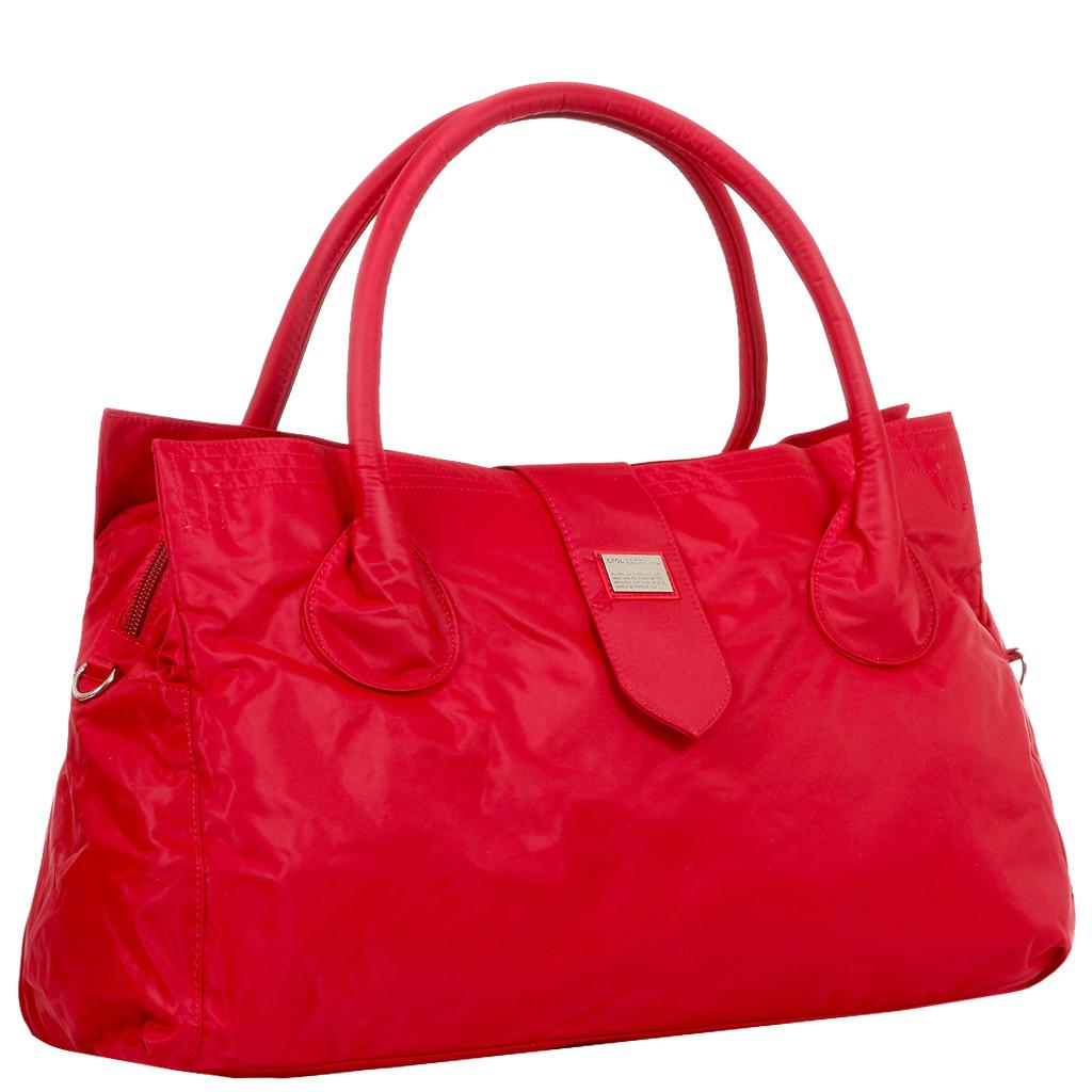 Дорожная малая спортивная сумка текстильная красная Эпол 23602 (Epol) , 39*20*14 см