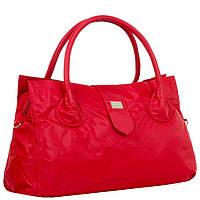 Дорожная малая спортивная сумка текстильная красная Эпол 23602 (Epol) , 39*20*14 см, фото 1
