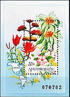 Венгрия 1991 - цветы Америки - блок - MNH XF