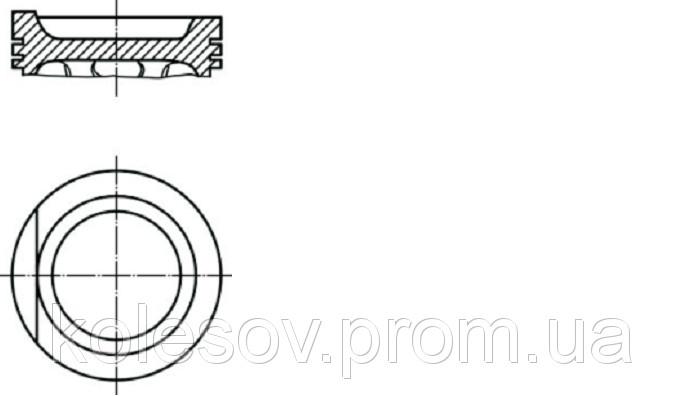 Поршни AUDI 90 (100, 200, Coupe) 2,2б. д.81мм.