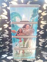 """Комод на 4 ящика с декором """"моана""""  Алеана"""