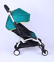 Прогулочная коляска YOYA Темно-зеленая с желтой окантовкой