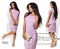 """Облегающее платье из гипюра """"Узор""""  размер 42-46"""