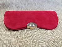 Женский клатч красно-маллиновый элегантный  (Турция)