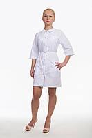 Медицинский халат для женщин с отложным воротником