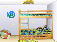 Кровать двухъярусная из сосны