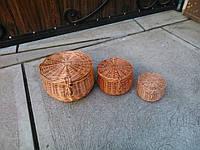 Комплект круглых шкатулок
