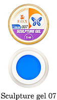 Гель-пластилин F.O.X Sculpture gel № 07 (синий) 5 мл