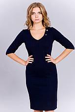 Модное женское трикотажное платье с разрезами, фото 3